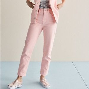 Madewell Pink Jeans